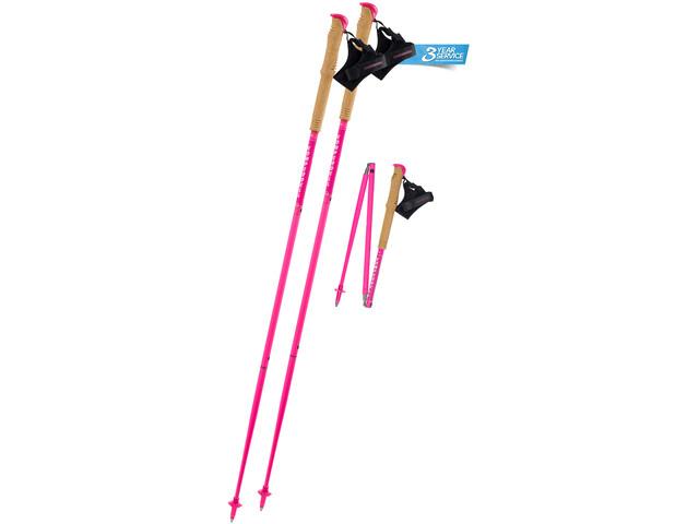 Komperdell Carbon.FXP Team Poles Foldable pink